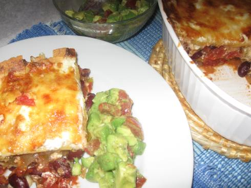 Chilaques: Made as a Mexican-style lasagna.